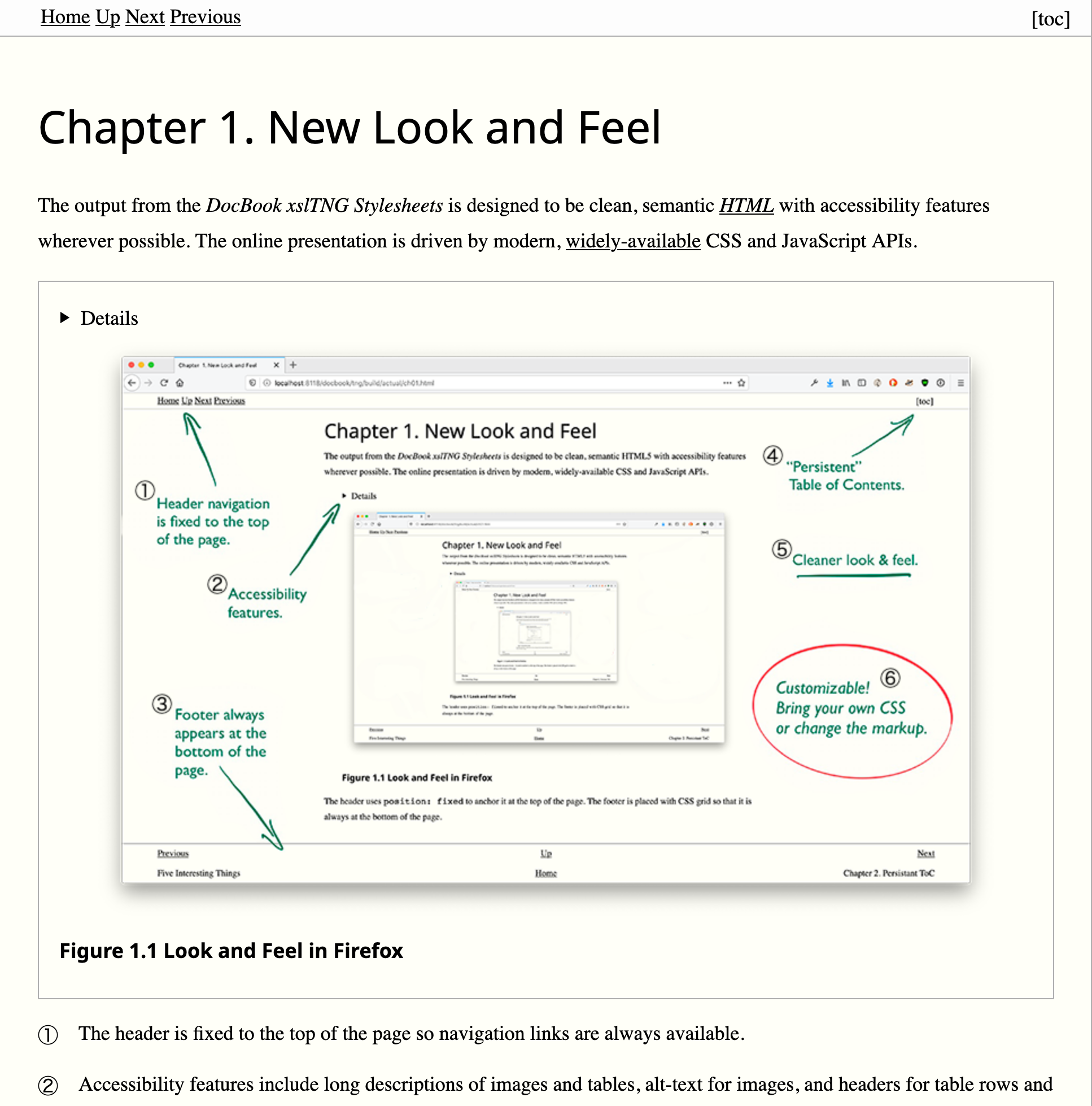 Screenshot of a rendered DocBook chapter.